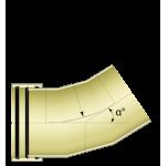 Трехсегментный отвод 31°- 60°