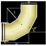 Четырехсегментный отвод 61°- 90°